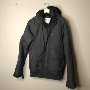 Men's volcom black winter jacket coat size small
